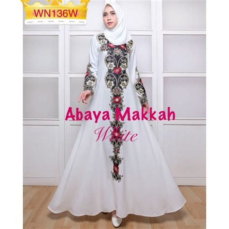 Gamis Tali Pinggang Gad 019 gamis abaya bordir makkah size l baju muslim pesta modern