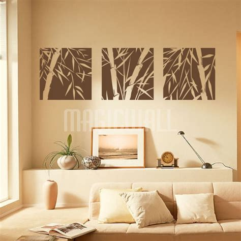 bamboo wall stickers bamboo tree squares wall decals stickers