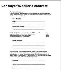 selling car contract template used car sale contract template free sle templates