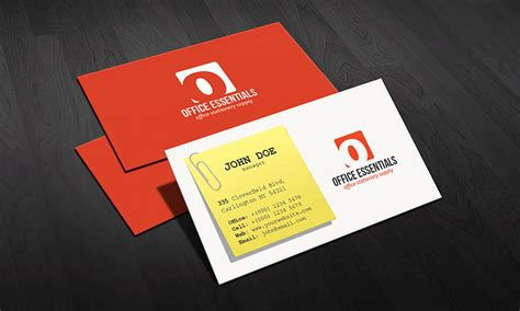 office business card template creative office supplies business card template 187 free