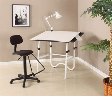 Alvin Onyx Creative Center White Folding Drafting Table Alvin Onyx Drafting Table