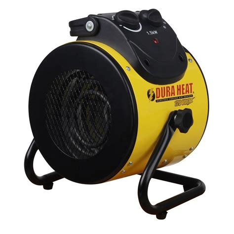 forced air fan duraheat 1 500 watt 120 volt electric forced air heater