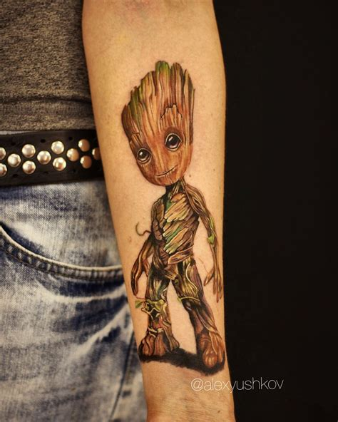 baby tattoo sleeves baby groot tattoos tattoos baby groot marvel