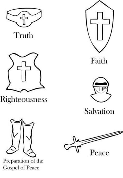 armor of god coloring page armors coloring and god
