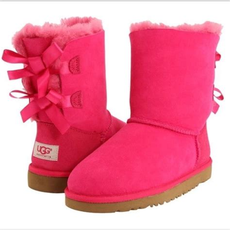 pink ugg boots with bows 67 ugg shoes bailey bow pink s uggs from