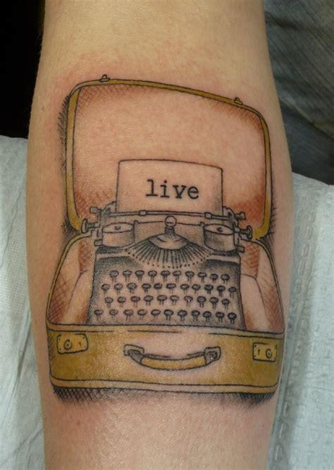 typewriter tattoo marci mundo tatu chicago ink poisoning