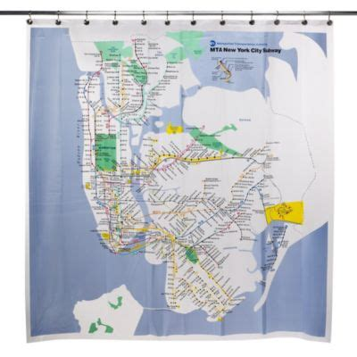 subway map shower curtain buy city shower curtain from bed bath beyond