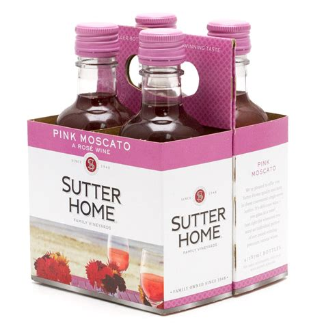 sutter home pink moscato a wine 4 pack 187ml bottles