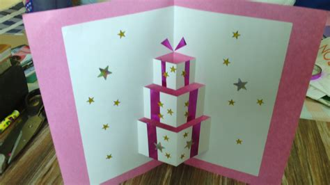 Pop Up Handmade Birthday Cards - handmade pop up card