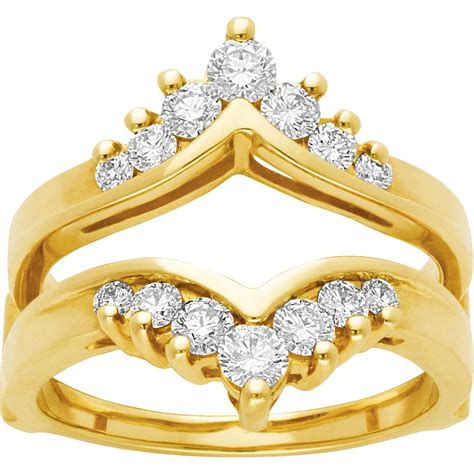 14k yellow gold 3 4 ctw channel set ring guard