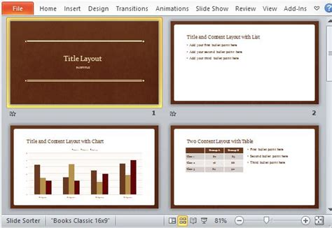 Classic Book Powerpoint Template Classic Powerpoint Templates
