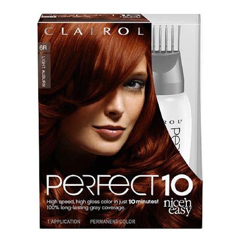 clairol n easy light auburn clairol n easy 10 permanent haircolor light