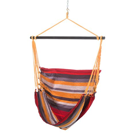 red swing el salvador red gray stripe hammock swing chair dfohome