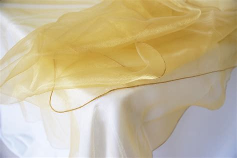 Square Organza Gold gold 54 quot organza table overlays table toppers