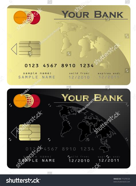Template Credit Card Gold Credit Card Black Gold Vector Template 71579125