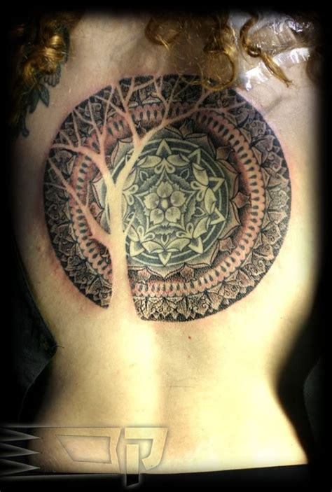 tattoo mandala tree geometrical tattoo the use of negative space gives me