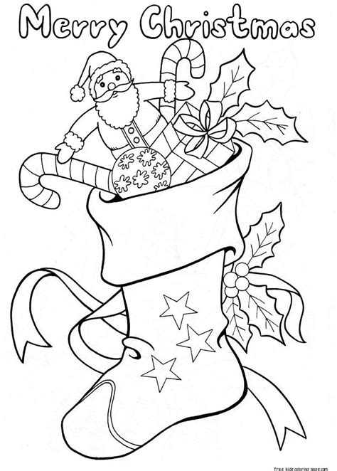 christmas stockings  candy  toys coloring pages
