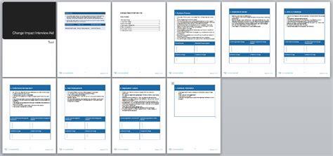 change impact assessment template learn change management methodology