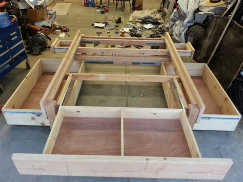 how to build a bed frame with drawers best 25 storage beds ideas on beds for small