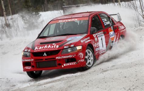 mitsubishi rally mitsubishi took 1 2in arctic rally f1 stars enjoyed