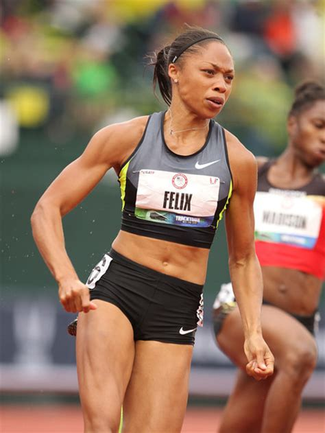 how to style hair for track and field more pics of allyson felix ponytail 15 of 31 allyson