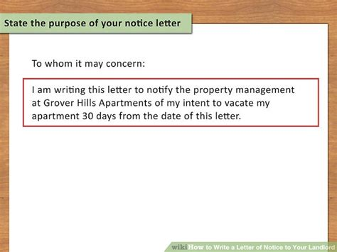 pattern of writing a notice how to write a letter of notice to your landlord 14 steps