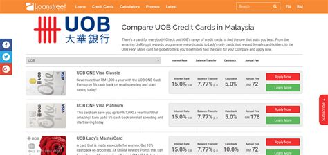 Uob Credit Card Application Form Malaysia Compare Uob Credit Cards In Malaysia