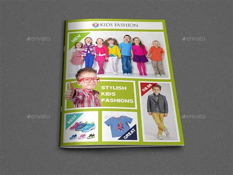 kids fashion products catalog brochure template by