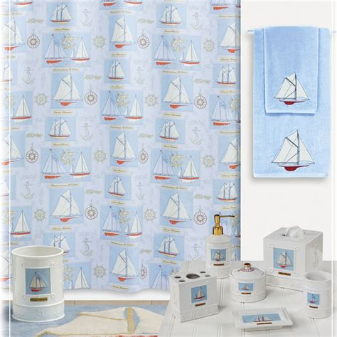 Shower Curtains With Matching Accessories by Sailing Shower Curtain Shower Curtain And Bath Accessories