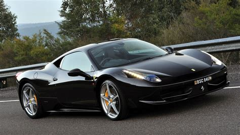 Ferrari 458 Italia Black Car Interior Design