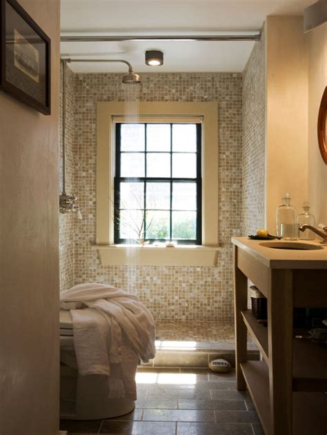 Window In Shower Houzz Bathroom Shower Windows