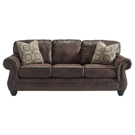 ashley leather sofas ashley breville faux leather queen size sleeper sofa in