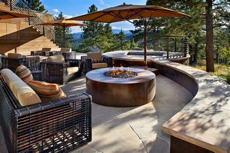 feuerschale terrasse einrichtung und gartengestaltung im landhausstil