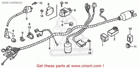 honda z50j1 monkey japan wire harness schematic partsfiche