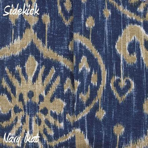 Rok A Tenun Ikat Desain 11 sidekick navy ikat fabric cotton tale designs