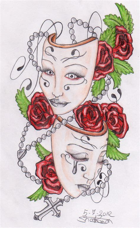 theater masks by shannonkyda on deviantart