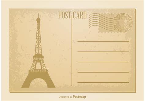 Retro Photo Cards Template by Vintage Postcard Vector Free Vector Stock