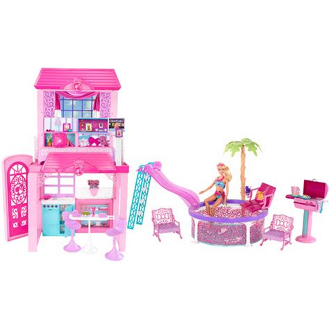 walmart barbie house barbie deco house dollhouse walmart com