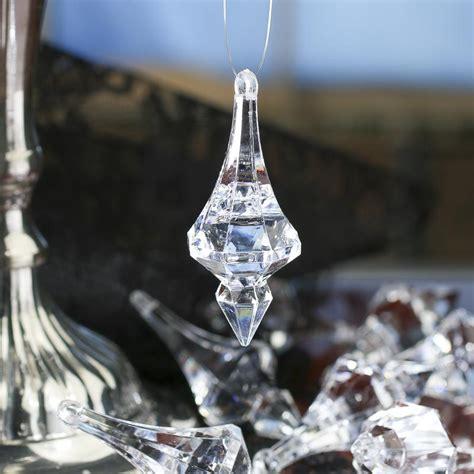 Chandelier Drops Decorative Clear Acrylic Chandelier Drops 24pcs Vase