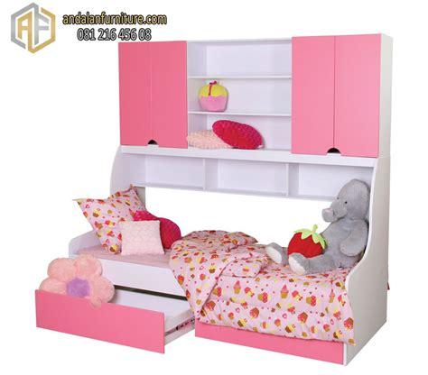 Ranjang Tempat Tidur Anak tempat tidur tingkat anak kembar perempuan minimalis