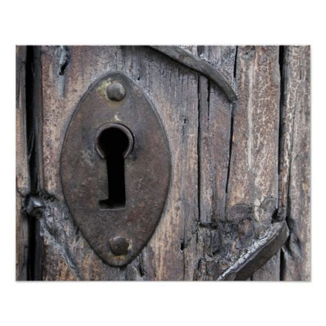 keyhole doorway old door keyhole poster zazzle