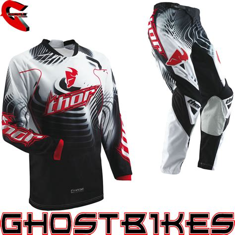 thor motocross jersey thor 2013 phase s13 vented warp black red mx motocross