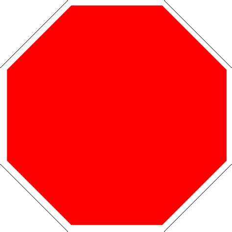 stop sign template blank sign template cliparts co