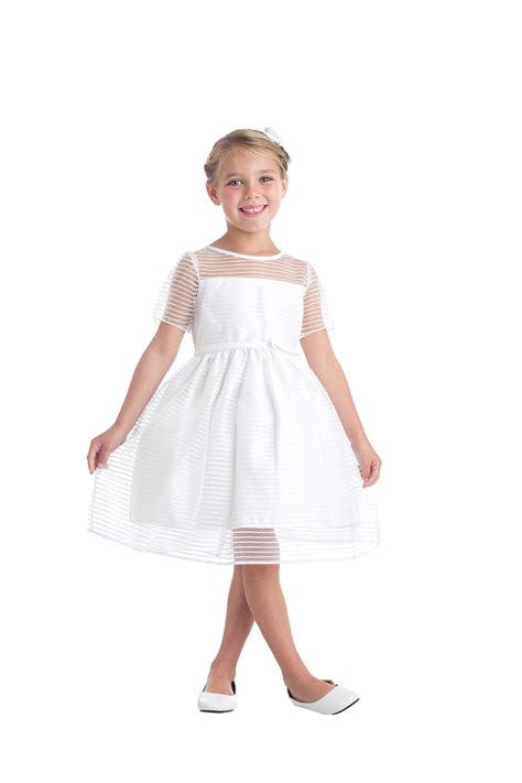 skow girls dress style  short sleeve metallic