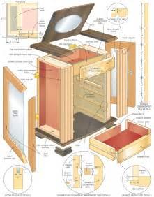 plans to build a jewelry armoire studio design