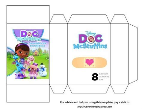 Doc Mcstuffins Worksheets by Doc Bandage Box Template Doc Mcstuffins
