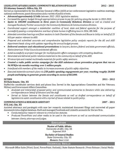 relations resume template relations resume exle political legislative