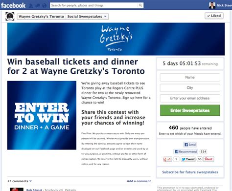 Facebook Sweepstakes Exles - social media marketing caign exles