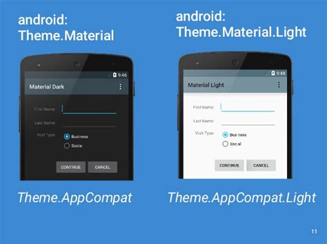 themes android appcompat material design and backwards compatibility