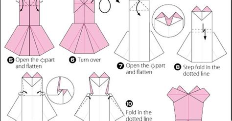 Origami Evening Dress - pin by clara on crafty robes origami and